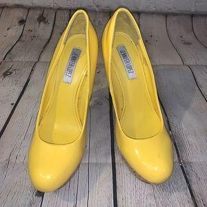 JLo Yellow Platform High Heels